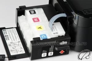 Фото Блок внешних доноров с открытой крышкой для принтера Epson L100