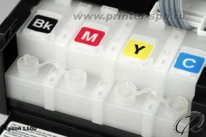 Фото Емкости - доноры с закрытыми пробками у Epson L100