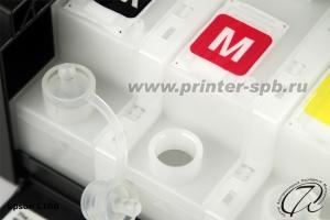Фото Отверстие с открытой пробкой для заправки чернил Epson L100