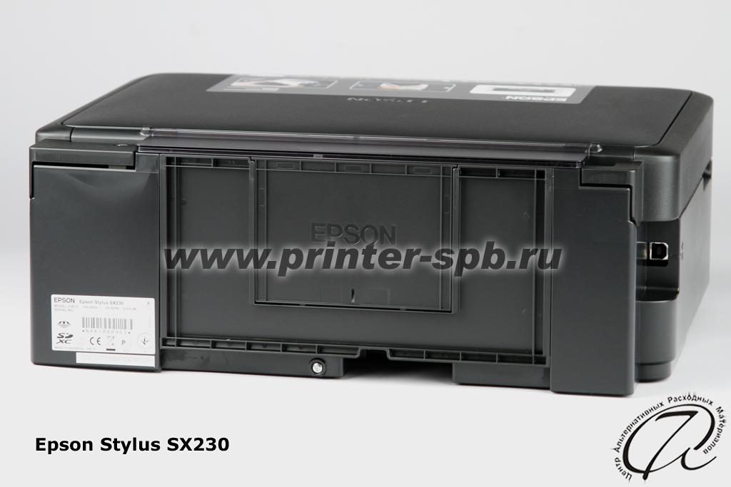 Скачать драйвера на принтер epson sx230