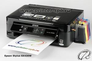 МФУ Epson Stylus SX430W с СНПЧ А7 класса СТАНДАРТ