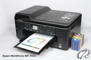 Фото МФУ Epson WorkForce WF-7515 с СНПЧ А7 ПРЕМИУМ