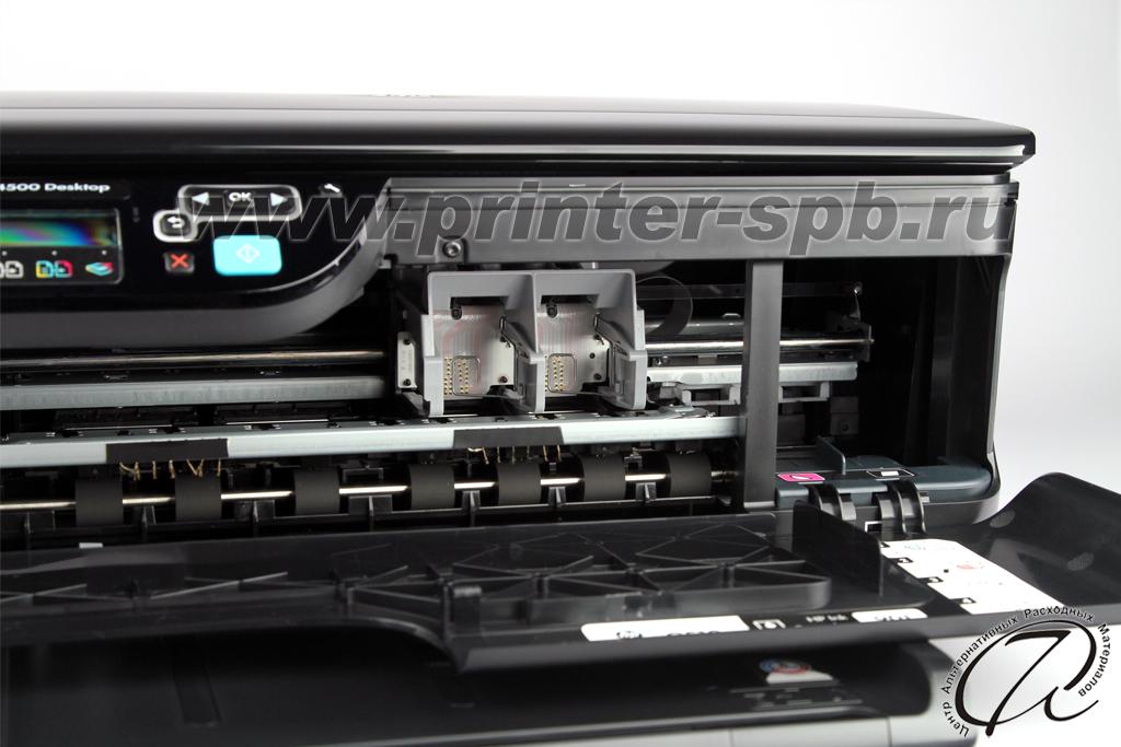 HP OfficeJet 4500 с открытой передней крышкой