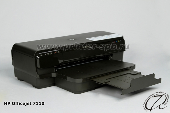 HP OfficeJet 7110: вид слева